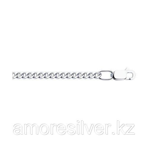 Цепочка SOKOLOV серебро с родием, без вставок, панцирная 968020802 размеры - 50 60 70