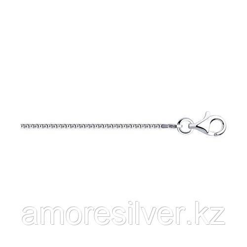 Цепь SOKOLOV серебро с родием, без вставок, фантазийные 94074640 размеры - 40 50