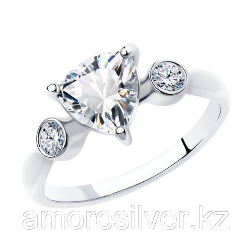 Кольцо SOKOLOV серебро с родием, фианит  94012835 размеры - 16,5