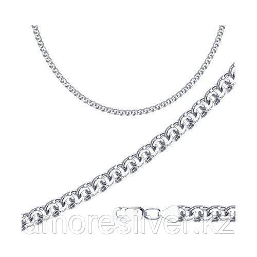 Цепь SOKOLOV серебро с родием, без вставок, бисмарк 968141204 размеры - 50 55
