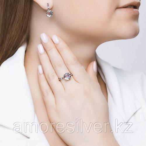 Кольцо SOKOLOV серебро с родием, ситал синт. фианит , многокаменка 92011717 размеры - 18,5 - фото 3