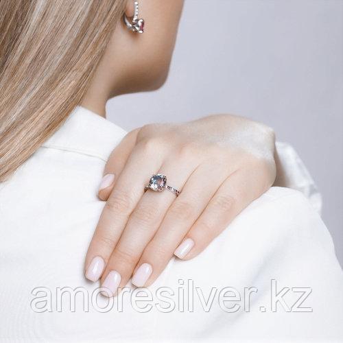 Кольцо SOKOLOV серебро с родием, ситал синт. фианит , многокаменка 92011717 размеры - 18,5 - фото 4