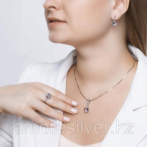 Кольцо SOKOLOV серебро с родием, ситал синт. фианит , многокаменка 92011717 размеры - 18,5 - фото 5