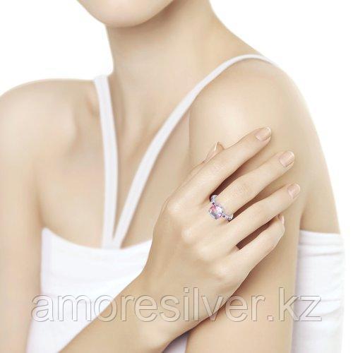 Кольцо SOKOLOV серебро с родием, ситал синт. фианит , многокаменка 92011717 размеры - 18,5 - фото 6