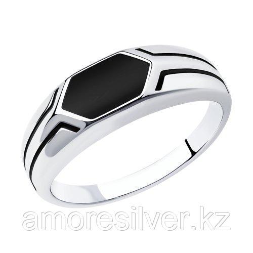 Кольцо SOKOLOV серебро с родием, эмаль 94012519 размеры - 19