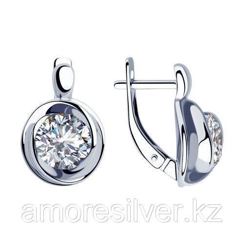 Серьги SOKOLOV серебро с родием, фианит  94023279