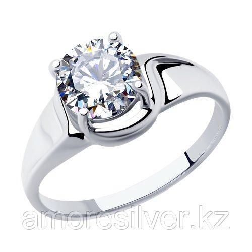 Кольцо SOKOLOV серебро с родием, фианит  94012878 размеры - 20,5