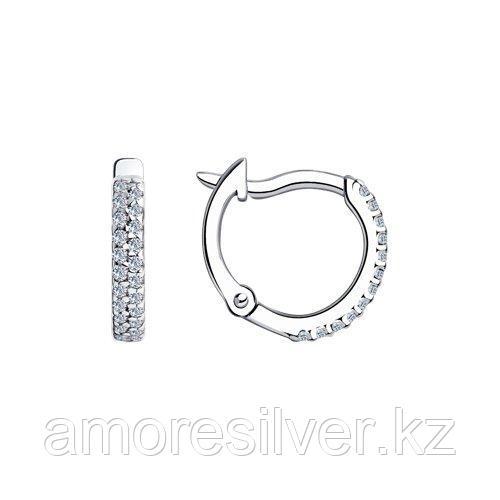 Серьги SOKOLOV серебро с родием, фианит  94020628