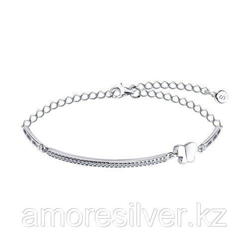 Браслет SOKOLOV серебро с родием, фианит  94050629 размеры - 17 19