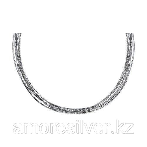 Колье SOKOLOV серебро с родием, без вставок 94074642 размеры - 40 45