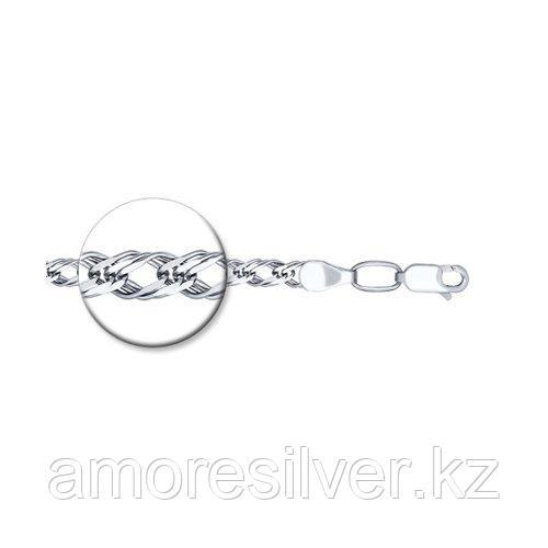 Браслет SOKOLOV серебро с родием, без вставок, ромб тройной 965220802 размеры - 18 19 20 22