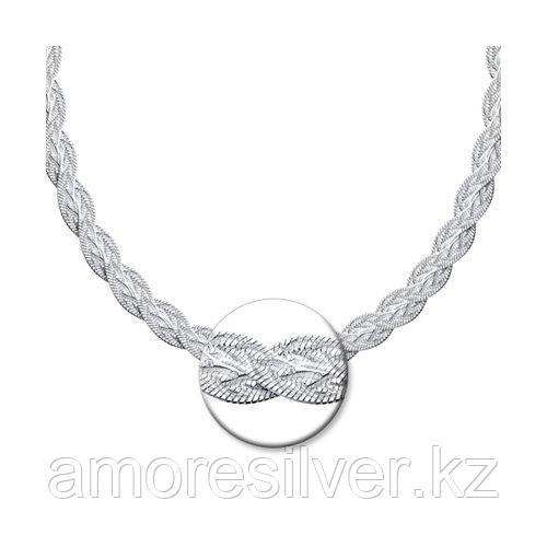 Цепь SOKOLOV серебро с родием, без вставок 94074532 размеры - 45
