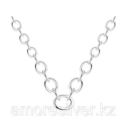 Колье SOKOLOV серебро с родием, без вставок 94070354 размеры - 40