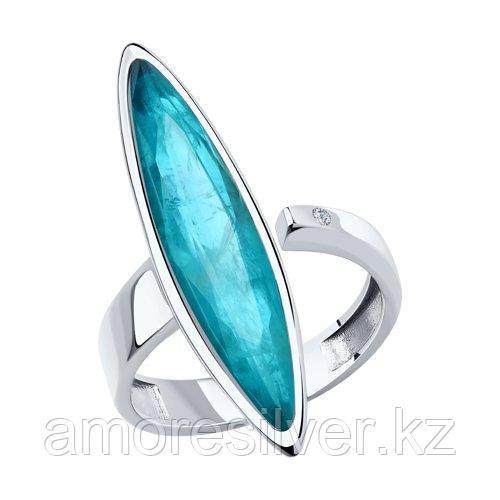 """Кольцо DIAMANT (SOKOLOV) серебро с родием, фианит, """"каратник"""" 94-110-00523-2 размеры - 17,5"""