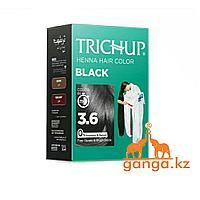 Краска Тричап на основе хны Черная (Henna hair color TRICHUP), 6 пакетиков по 10 грамм