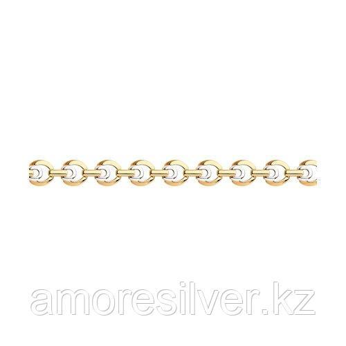 Браслет SOKOLOV серебро с позолотой, без вставок 93-150-00505-1 размеры - 17 18 19