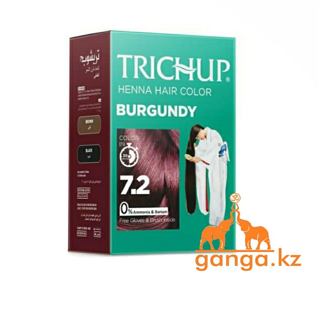 Краска Тричап на основе хны Бургунди (Henna hair color TRICHUP), 6 пакетиков по 10 грамм