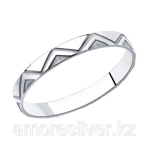 Кольцо SOKOLOV серебро с родием, без вставок 94013113