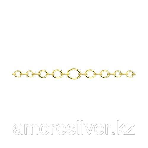Браслет SOKOLOV серебро с позолотой, без вставок, шпрингельный замок 93050134 размеры - 17 18 19
