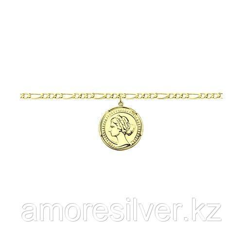 Браслет SOKOLOV серебро с позолотой, без вставок 93050128 размеры - 17 18 19