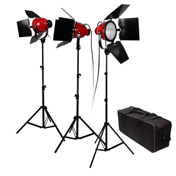 Комплект Red Head 2400W с 3-мя галогенными источниками света на стойках