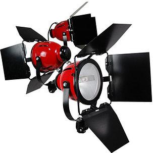 Комплект Red Head 2400W с 3-мя галогенными источниками света на стойках, фото 2