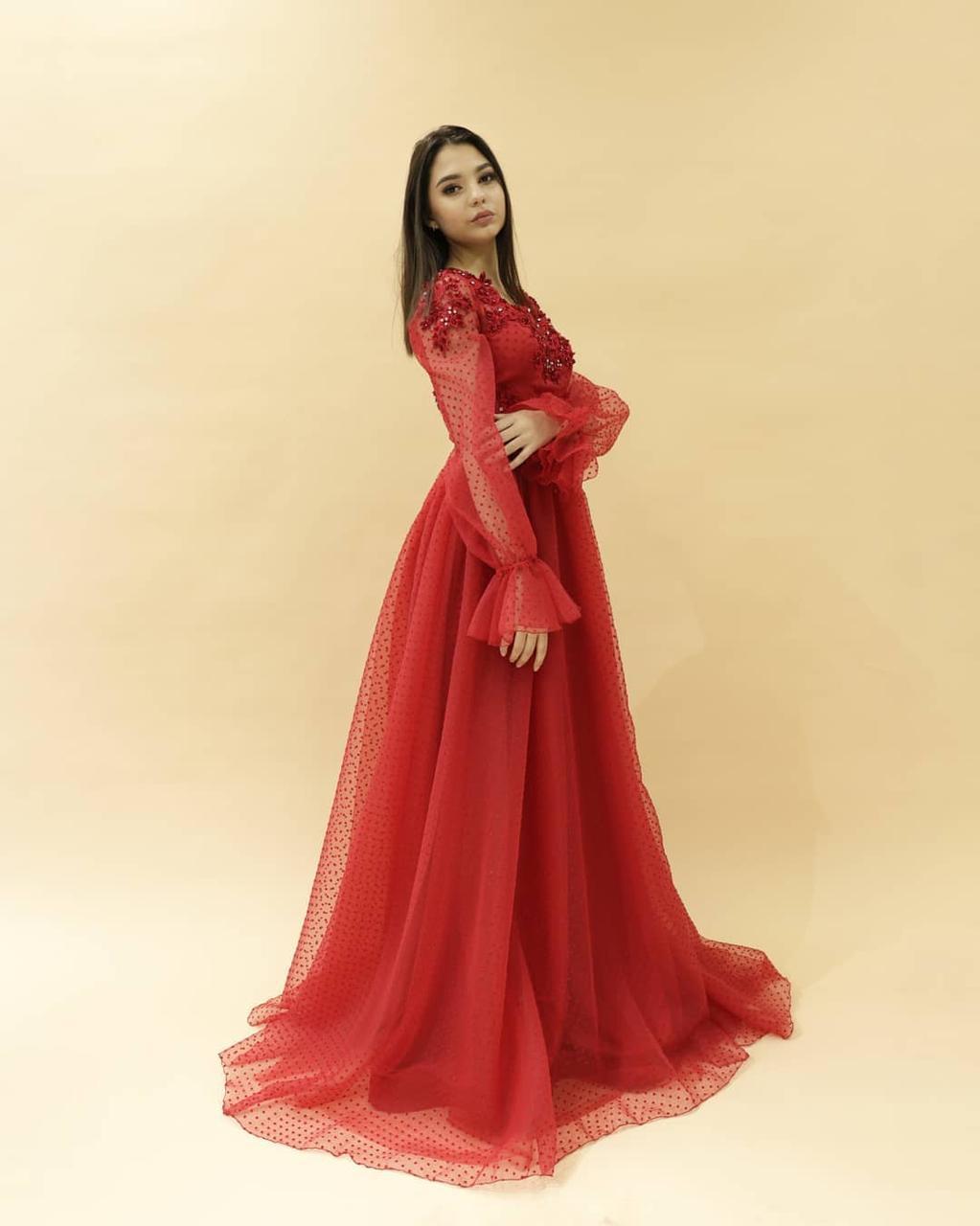 Вечернее платье (камень SWAROWSKI) - фото 4