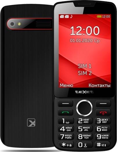 Мобильный телефон Texet TM-308 черный-красный