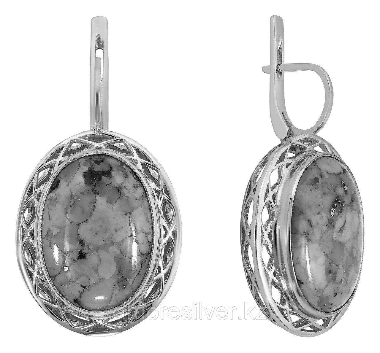 Серьги Aquamarine серебро с родием, фианит сваровски 43536.5