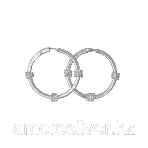 Серьги Красная Пресня серебро без покрытия, без вставок, гладкое 3301091б
