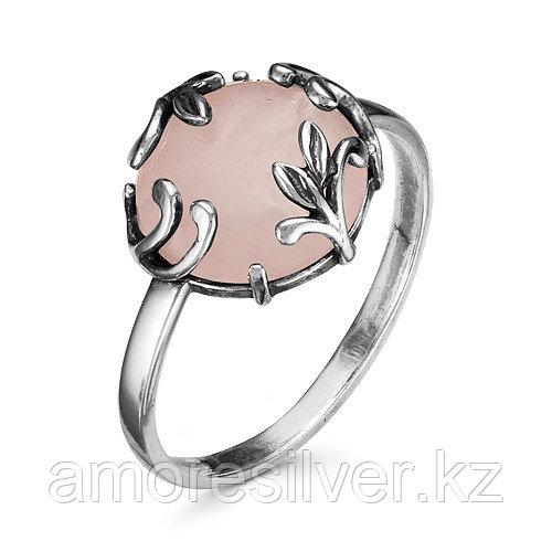 Кольцо Красная Пресня , кварц розовый синт., флора 2338946К