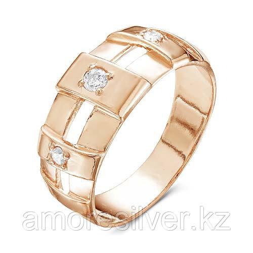 Кольцо Красная Пресня серебро с позолотой, фианит, фантазия 2388403