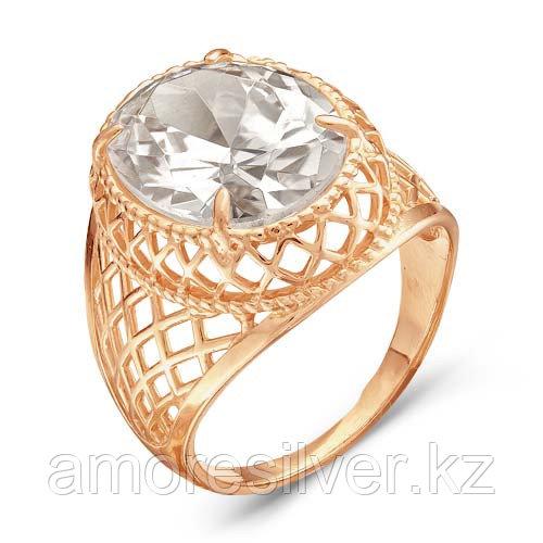 Кольцо Красная Пресня серебро с позолотой, фианит, геометрия 2387613
