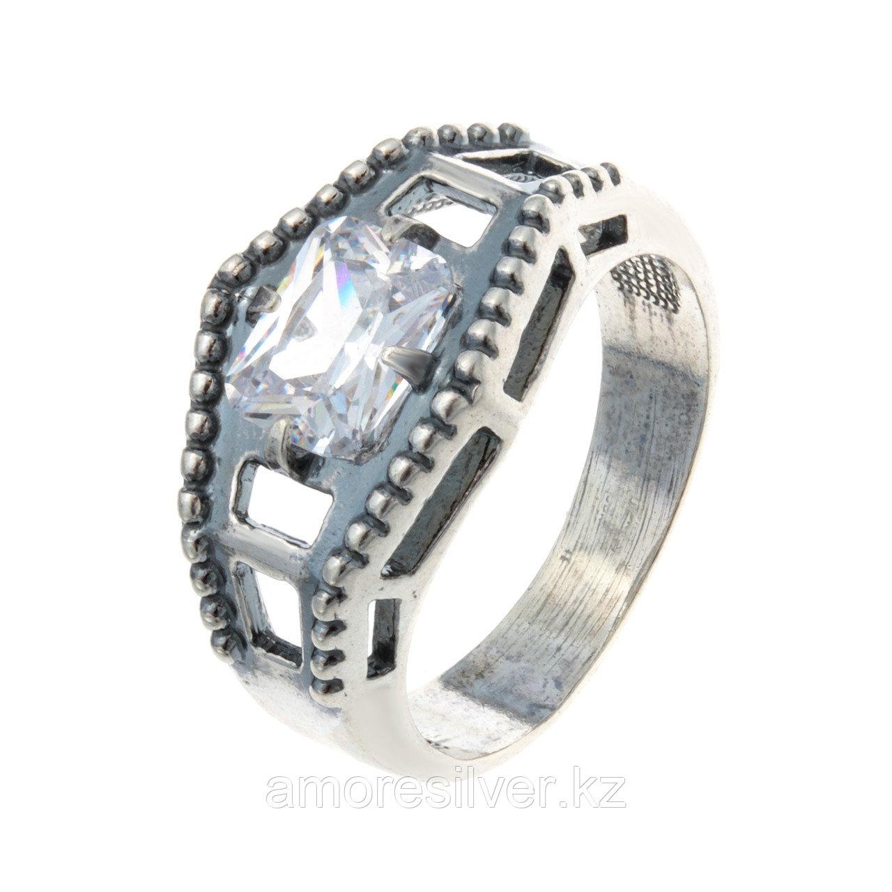 Кольцо Красная Пресня из черненного серебра, фианит, геометрия 2388042
