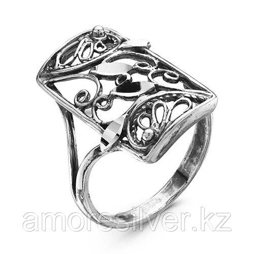 Кольцо Красная Пресня из черненного серебра, ажурное 2307966-5