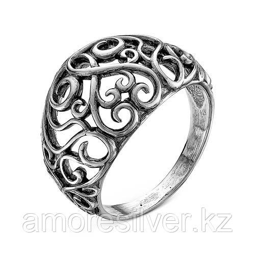 Кольцо Красная Пресня из черненного серебра, ажурное 2307992