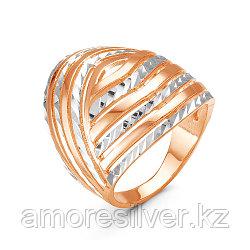 Кольцо Красная Пресня серебро с позолотой, без вставок, , геометрия 2309411-5 размеры - 20