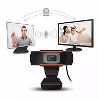 Веб камера для учёбы и работы для Компьютера, Моноблока и Ноутбука с микрофоном 720 HD онлайн