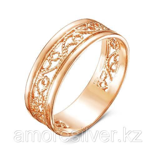 Кольцо Красная Пресня серебро с позолотой, без вставок, ажурное 2308567