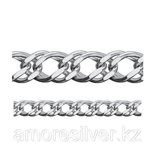 Цепь Адамант серебро с родием, без вставок, ромб двойной Ср925Р-106308055