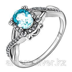 """Кольцо Teosa серебро с родием, топаз фианит, , """"halo"""" R-DRGR00747-T размеры - 17 18,5"""