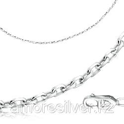 Цепь  серебро с родием, без вставок, якорная 81060141445 размеры - 45
