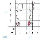 "Серьги Teosa серебро с родием, рубин фианит, ""halo"" E-DRGR00833-RB, фото 2"