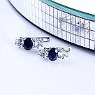 Серьги Teosa серебро с родием, сапфир топаз, дорожка 0642-E-SP-T, фото 3