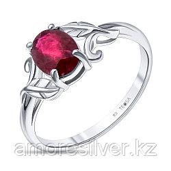"""Кольцо Teosa серебро с родием, рубин, """"каратник"""" R-DRGR00800-RB"""