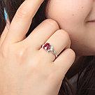 """Кольцо Teosa серебро с родием, рубин, """"каратник"""" R-DRGR00800-RB, фото 2"""