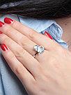 Кольцо Teosa серебро с родием, топаз фианит, фауна R-DRGR00797-T, фото 2