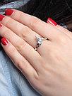 """Кольцо Teosa серебро с родием, топаз фианит, """"halo"""" R-DRGR00826-T, фото 2"""