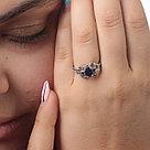 """Кольцо Teosa серебро с родием, сапфир фианит, """"halo"""" R-DRGR00804-SP, фото 2"""
