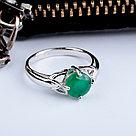 "Кольцо Teosa серебро с родием, агат зеленый, ""каратник"" R-DRGR00796-AG, фото 3"
